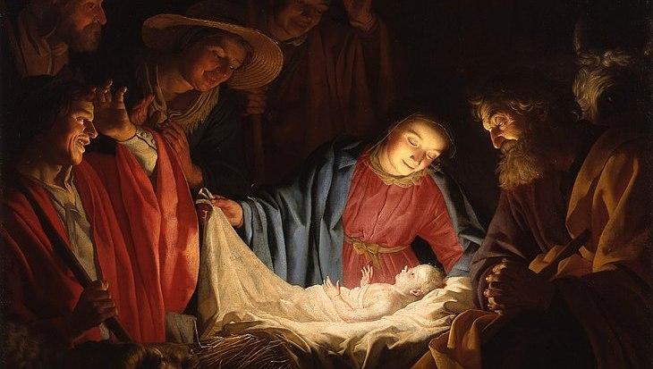 730px-Gerard_van_Honthorst_-_Adoration_of_the_Shepherds_(1622)-cropped
