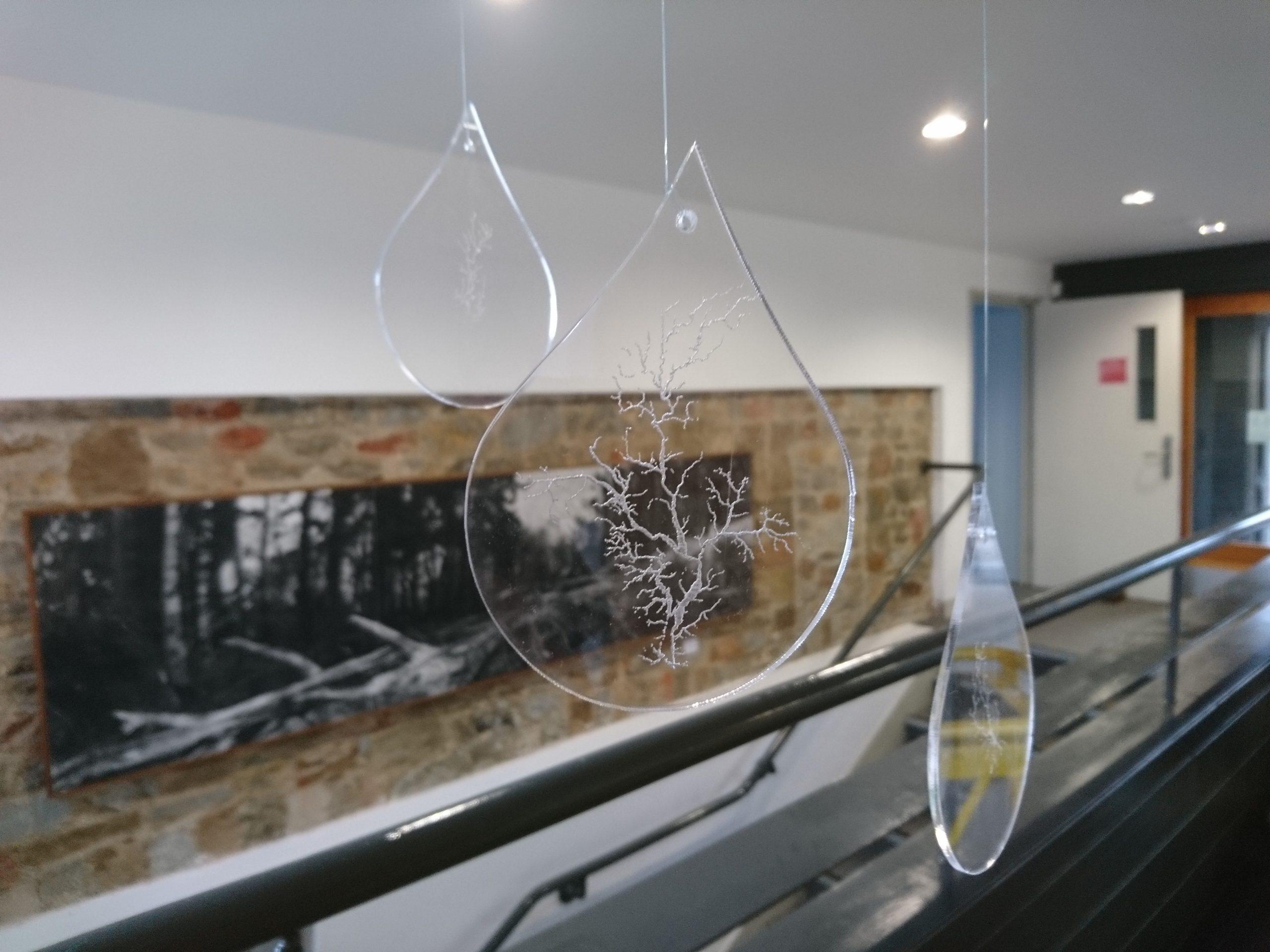 Drop Slow Tears (clear acrylic) at Dartington