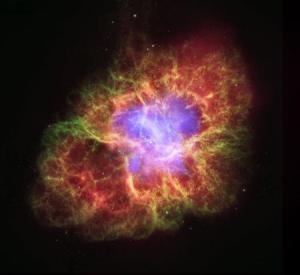 The Crab Nebula, with a pulsar at its core. NASA