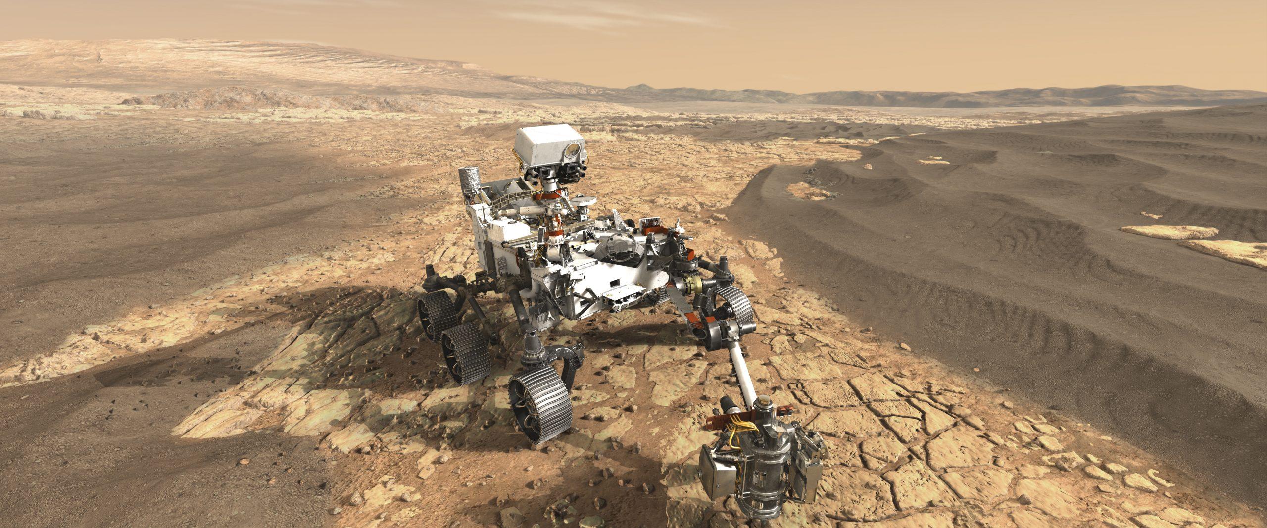 Martian rover (NASA) crop