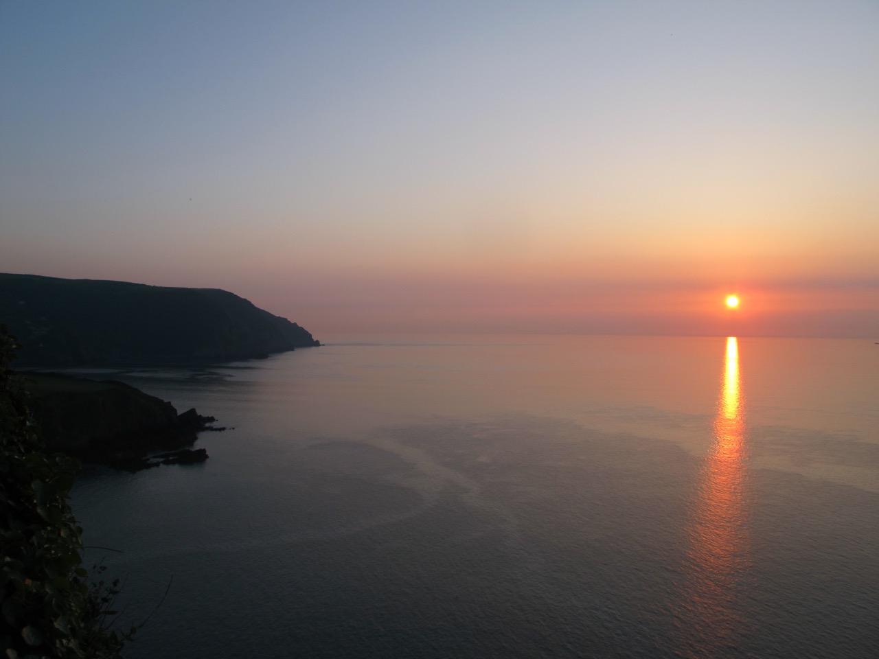 sunset-at-lee-abbey-devon