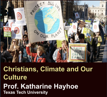 Christians, Climate, and our Culture