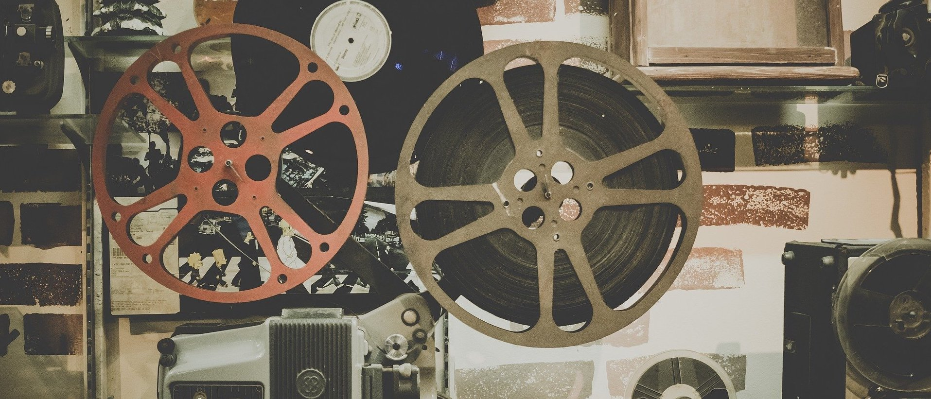 an old fashioned movie reel